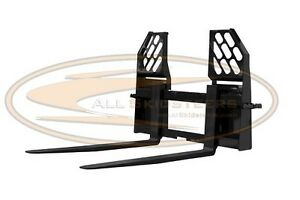 Walk Thru Skid Steer Forks Heavy Duty Bobcat John Deere Loader Case Attachment