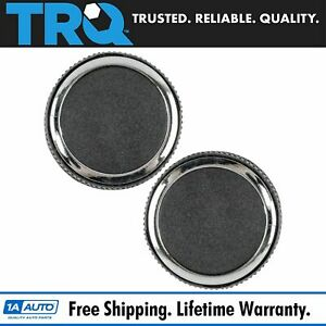 Rear Radio Volume Control Knob Pair Chrome For Buick Cadillac Chevy Gmc Pickup