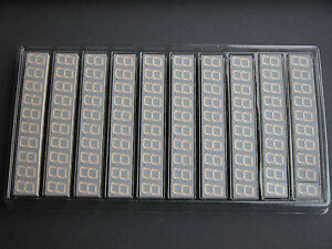 100x Stanley Nkr163 Super Bright Red 0 6 0 56 7 segment Led Common Cathode