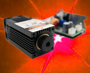 Focusable 500w 638nm Orange red Laser Module ttl Modualtion