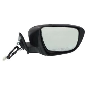 Mirror Power Signal Smooth Black Passenger Right Rh For Nissan Rogue Us Built