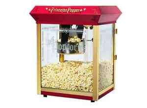 Great Northern Princeton Style 8 ounce Red Tabletop Popcorn Maker Popper Machine