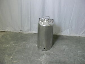 Alloy Products 40 Liter Stainless Steel Pressure Vessel 130 Psi