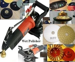 Wet Polisher Granite Countertop 1 2 Half Bullnose Router Cup Buff Stone Masonry