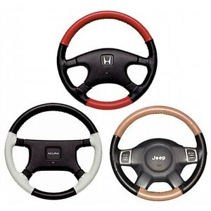Custom Fit 2 Color Leather Steering Wheel Cover Wheelskins Euro Tone Perf 14 X 4