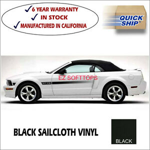 Mustang Convertible Top 2005 2014 With Defroster Glass Window black