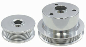 1994 1996 Chevy Truck 454 7 4l Polished Aluminum Serpentine Pulley Set
