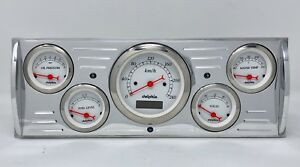 1941 1942 1943 1944 1945 1946 Chevy Truck 5 Gauge Dash Cluster Metric Set White