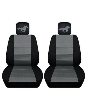 Fits 2015 To 2017 Ford Mustang Front Seat Covers With A Horse