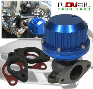 Universal 38mm Vr Style Turbo External Manifold Wastegate 8psi Anodized Blue