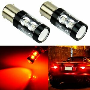 Jdm Astar 2x 50w Cree 1156 Led Car Tail Stop Light Bulbs With Projector Pure Red