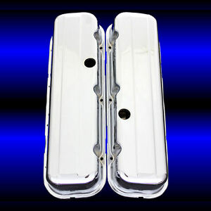 Chrome Tall Valve Covers For Big Block Chevy 396 427 454 502 Chevrolet Engines