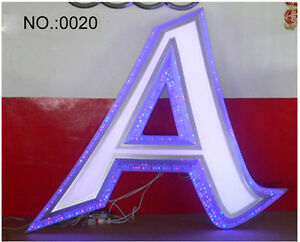 High Quality 3d Led Signs Brushed Stainless Steel Channel Letters