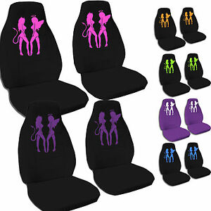 Front Set Car Seat Covers With A Nice Angel Devil Design Choose Your Color