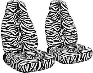 Two Zebra White Seat Covers For A Chevy Blazer
