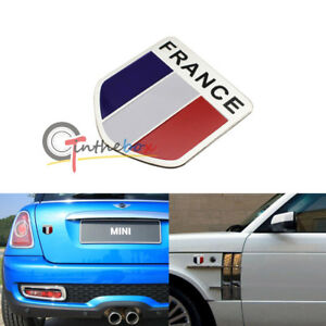 1pc Car Motorcycle Decal Racing France Flag Decor Sticker 3d Emblem Badge