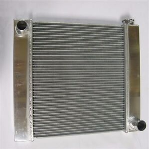 Chevy Aluminum Universal Radiator 21 X 19 X 2 2 Gm Outlets Hot Street Rod