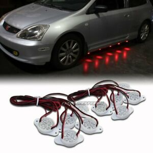 Strands Under Car Red Brabus Style 90 led Puddle Lights Underglow Kit Universal