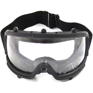 AIRSOFT TACTICAL SAFETY GOGGLES w CLEAR WIDE VIEW LENS Protection $11.95