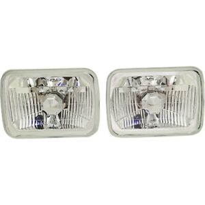 Styleline New Headlights Driving Head Lights Headlamps Set Of 2 Olds Chevy Pair