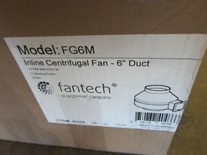 Fantech Fan Tech Fg6m 6 Inch 6 Exhaust Fan Blower Radon Fg 6m