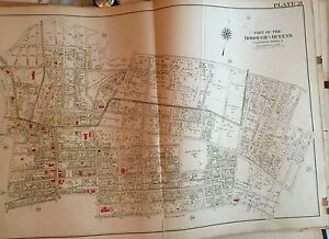 1909 Murray Hill Flushing H S Ps 20 22 Armory Court Queens Ny Plat Atlas Map