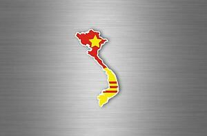 Sticker Car Decals Motorcycle Map Outside Flag Vietnam Country South