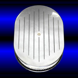 Ball Milled Air Cleaner Polished Aluminum For Big Block Chevy 396 427 454 502