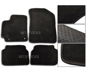 Fit For 2007 2011 Toyota Corolla Black Nylon Carpet Floor Mats 4 Pcs New