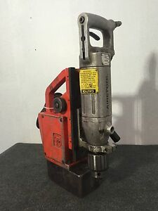 Airetool 600 335 Pneumatic 4 5 Hp Drill W Fein Magnetic Base Compact Powerful