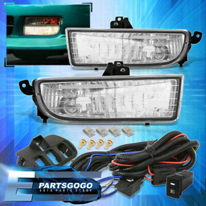 For 97 01 Honda Prelude Clear Driving Bumper Fog Lights Lamps W Switch Harness