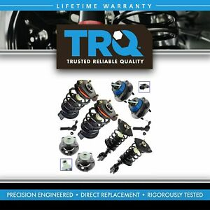 Trq Front Rear Strut Spring Outer Tie Rod End Wheel Bearing Hub Kit Set 10pc New