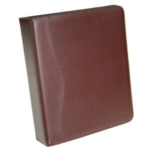 Royce Leather 2 Inch d Ring Binder Premium Bonded Leather Tan