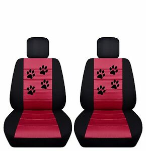 Fits 2012 To 2014 Toyota Camry Velvet Paw Print Seat Covers Airbag Friendly
