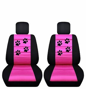 Fits 2005 To 2008 Toyota Corolla Velvet Paw Print Seat Covers