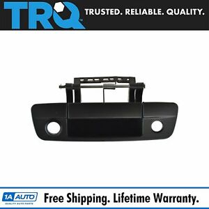 Trq Tailgate Handle With Rear View Camera Black For Dodge Ram 1500 2500 3500 New