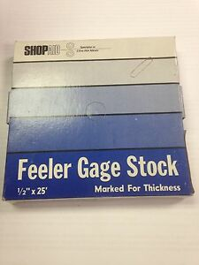 Feeler Or Thickness Gage Stock Coils 1 2 X 25 005 Thickness