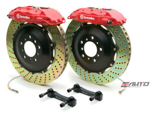 Brembo Front Gt Bbk Brake 4pot Red 355x32 Drill Disc Rx330 Rx350 Rx400h 04 09