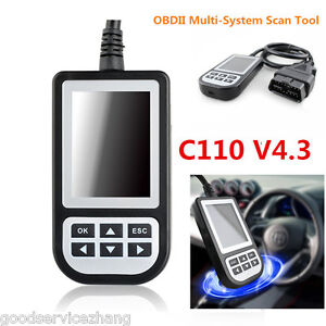 C110 V4 3 Obdii Multi system Scan Tool Engine Fault Code Reader For Bmw Mini