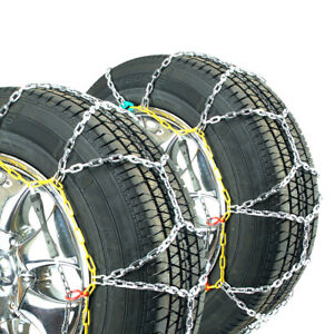 Titan Diamond Pattern Alloy Square Tire Chains Onroad Snow ice 3 7mm 245 45 17