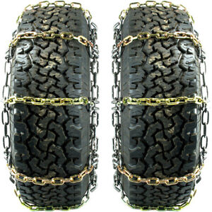 Titan Hd Alloy Square Link Tire Chains On off Road Ice snow mud 7mm 245 70 15