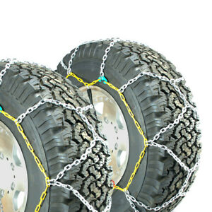 Titan Diamond Alloy Square Tire Chains On Road Snow Ice 3 7mm 265 70 17