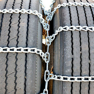 Titan Truck Tire Chains Dual triple On Road Snow ice 5 5mm 245 70 19 5