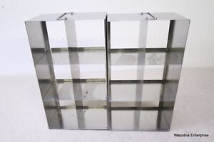 2 Stainless Steel Laboratory Cryo Storage Freezer Rack Cryogenic 18 x6 x10
