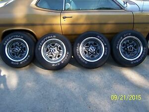 Set Of 4 15 Gmc Chevy Rally Wheels W Good Year Tires Center Caps Trim Rings