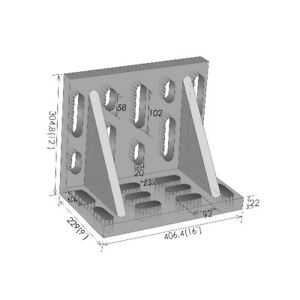 16 X 12 X 9 Giant Slotted Angle Plate 3402 0340