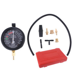 Fuel Pump Vacuum Tester Gauge Leak Carburetor Pressure Diagnostics W Case New