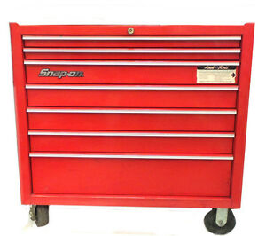 Snap on Tools Roll Cab Tool Ches Tool Box 7 Drawers Red