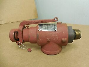 Teledyne Farris Safety Relief Valve 1855 0l 18550l 3 4 X 1 1 4 138 Psi