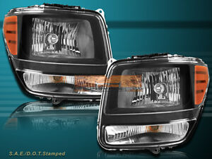 07 11 Dodge Nitro Sport Utility Oe Replacement Headlights Black Housing
